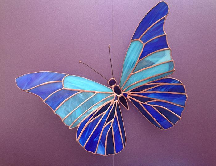 бабочка витраж