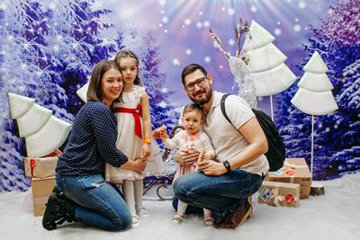 новогодняя фотозона родители