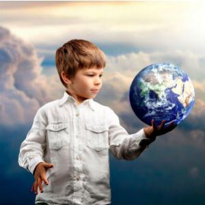 Ребенок и земной шар