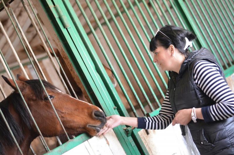 лошадь и женщина