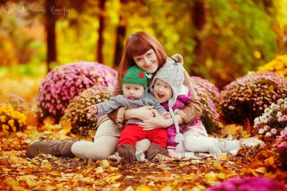 Осенний фотосет с ребенком