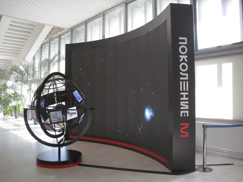 Выставочный экспонат с работами победителей