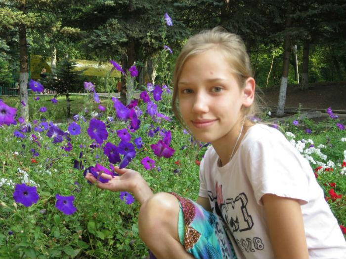 Ирина в цветах