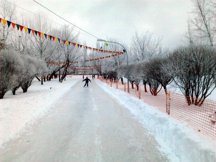 Каток в парке Гагарина