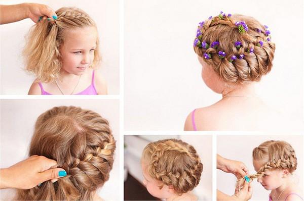 Причёски для девочек на длинные волосы видео уроки