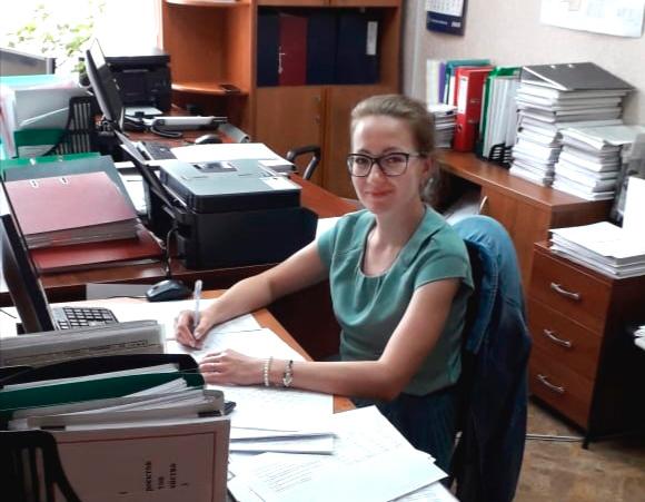 Мария Мокеева на своем рабочем месте