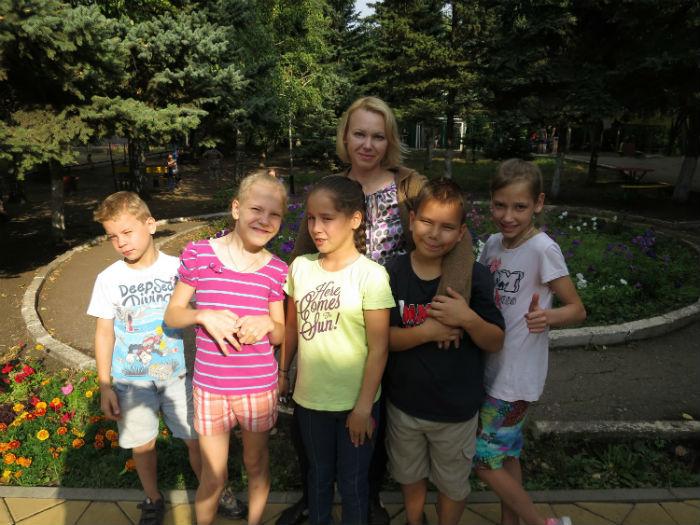 Ольга с детками