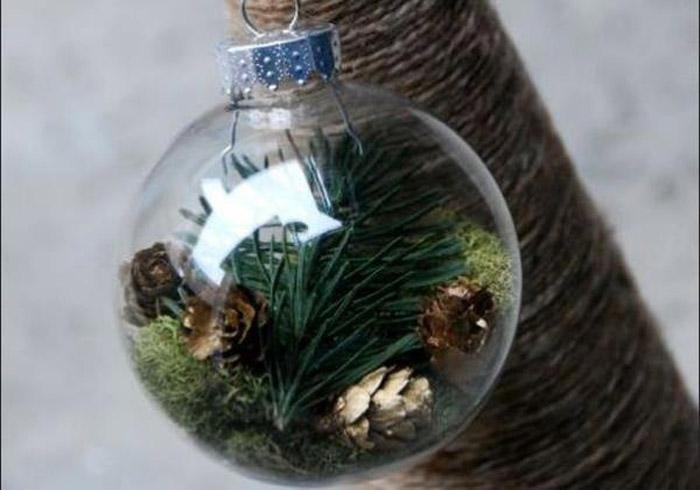 Прозрачный елочный шар