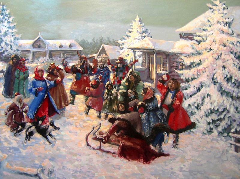 Зимние праздничные забавы