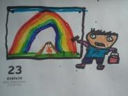 Мальчик рисует девочку, которую любит