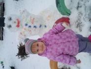 Алиса и бобровский снеговик)))