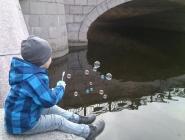 Пузыри над рекой