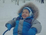 Неописуемый восторг сына. Первый снег