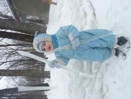 Зайчонок в зимнем лесу ))